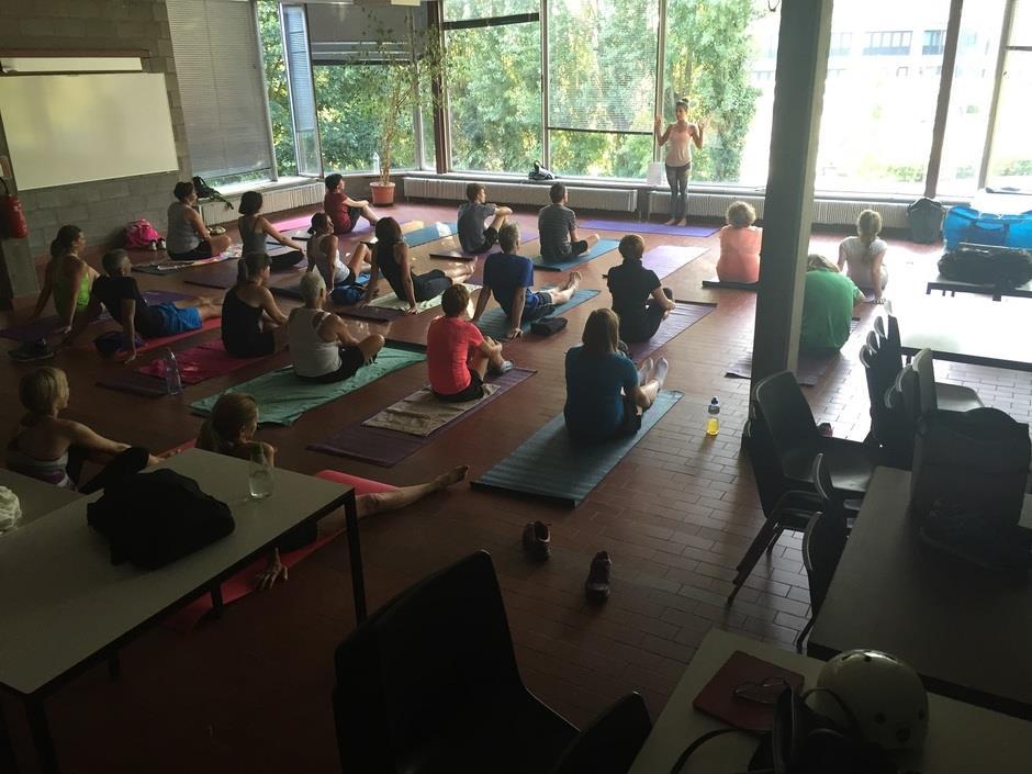 Yoga sessie voor lopers